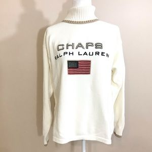 Chaps Ralph Lauren American Flag Sweater Cotton